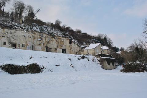 Turquant_rue château gaillard sous la neige <sup>©</sup> PCC_D. Bazille