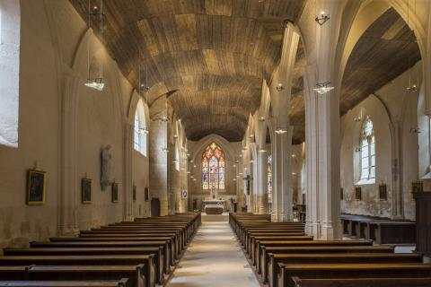Foussais-Payré_intérieur de l'église <sup>©</sup>Commune de Foussais-Payré