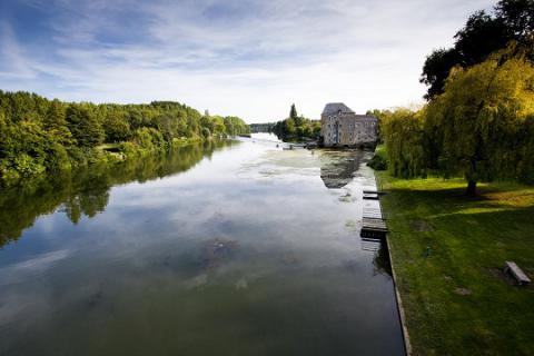 Parcé_vue sur la rivière <sup>©</sup> J.-P. Berlose