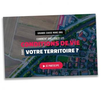 Affiche ANCT du sondage citoyen